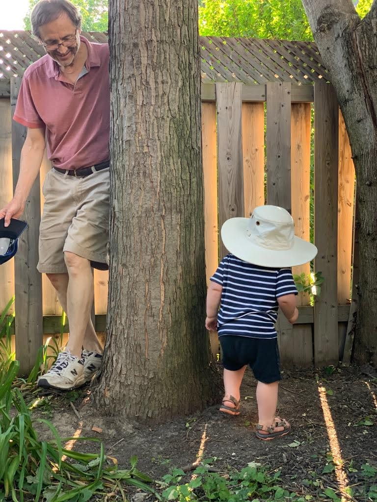 Trying to apprehend a hat thief!